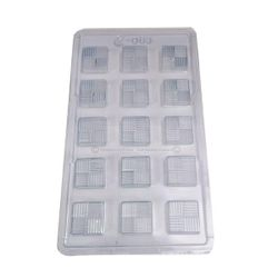 Texture Square Plastic Chocolate Mold