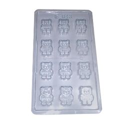 Plastic Teaddy Bear Chocolate Mould
