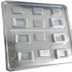 Plastic Designer Square  Chocolate Mould