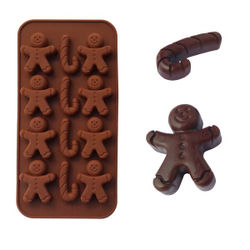 Brown Snowman Chocolate Mould