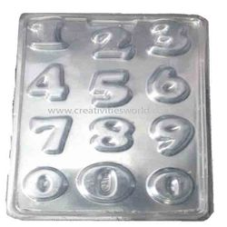 Plastic Numbers Chocolate Mould