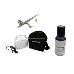 Artmaster Air brush Kit With Compressor & Silver sheen Airbrush Americolor