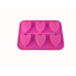 6 pcs Heart Chocolate Mould