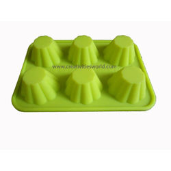6 Pcs Designer Muffin Chocolate  Mould