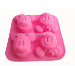 4 cavity Minnie Mouse Cup cake Mould