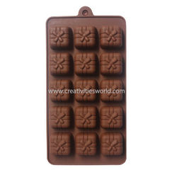 Box Bow Design Brown Chocolate Mould