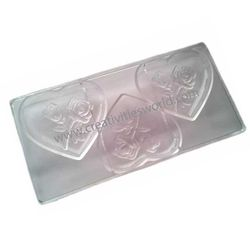 Designer Rose Polycarbonate Chocolate Mold