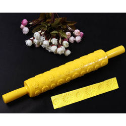 Daisy Flower Pattern Rolling Pin