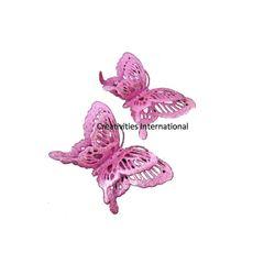 Jaali Pattern Glitter Butterfly