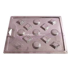 GEOMETRIC SHAPE PVC THIN CHOCOLATE GARNISHING MAT