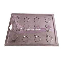 HEART PVC THIN CHOCOLATE GARNISHING MAT