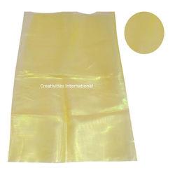 Yellow color shiny tissue sheet