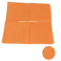 Orange color polka dot tissue sheet