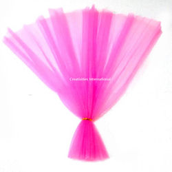 Pink color netted fabric tissue sheet