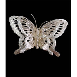 Golden Jaali Pattern Glitter Butterfly