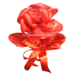 Red Rose Satin Flowers