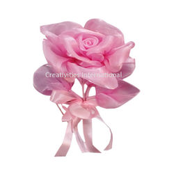 Pink Rose satin Flowers