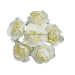 White Rose Paper Flower Bunch