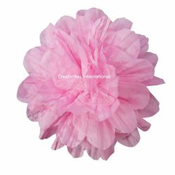 Pink Satin Bow Flower