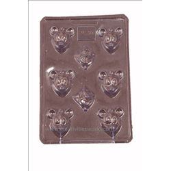 Plastic Micky Mouse Chocolate Mould
