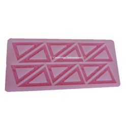 Triangle and Design Chocolate Garnishing mat