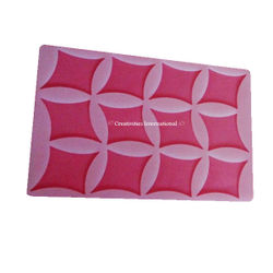 Diagonal Shapes Silicone chocolate garnishing mat