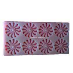 Fancy Swirl Round Chocolate Garnishing mat