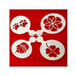 Cupcake Flower Theme 4 in 1 Stencil