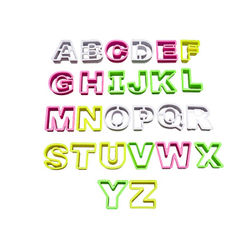 Alphabet Cookie & Pastry Cutter