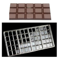 4 Cavity Chcolate Bar Polycarbonate Chocolate Mold