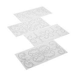 Designer chocolate impression mat pattern 2 ( set of 4)
