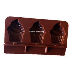 Frosted Cupcake Chocolate Candy mould