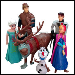 Frozen Character Cakes Toppers Full Set