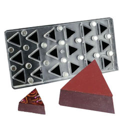 Magnetic  chocolate mould Plain Triangle