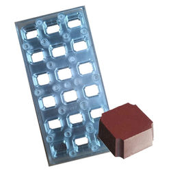 Magnetic  chocolate mould Curved Square shape