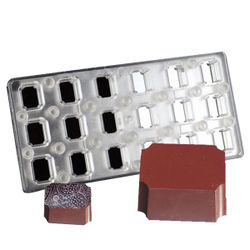 Magnetic  chocolate mould  curved Rectangle shape