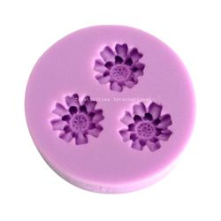 3 in 1 Flower Shape Fondant Mould