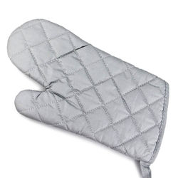 Grey Safety Cotton Microwave Oven Gloves (1 pc)
