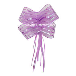 Purple Net Bow Big