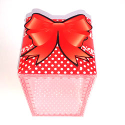 Red Polka Dot Box With Ribbon Bow