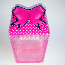 Pink Polka Dot Box With Ribbon Bow
