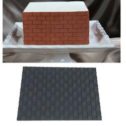 Brick Design Fondant Impression Mat