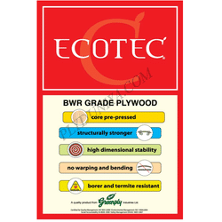 Greenply Ecotec Mr Grade (Commercial) Plywood  Thickness 18 Mm Plywood