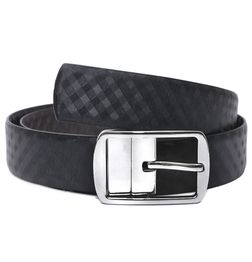 FORMAL REVERSIBLE MENS LEATHER BELT WITH TURNING BUCKLE