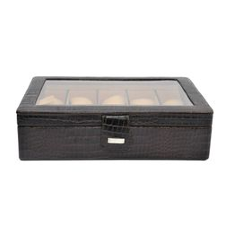 ALLIGATOR PRINT LEATHER WATCH STORAGE BOX
