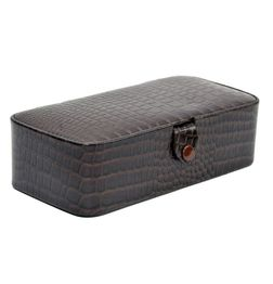 ALLIGATOR PRINT LEATHER JEWELRY STORAGE BOX