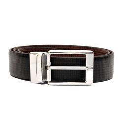 BLACK-BROWN FORMAL REVERSIBLE BELT WITH TURN BUCKLE