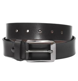 AMERICAN BLACK LEATHER BELT