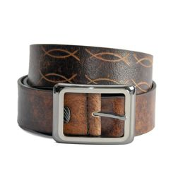 BROWN CASUAL LEATHER BELT