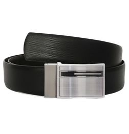 SILON EXECUTIVE REVERSIBLE LEATHER BELT WITH BOX FRAME BUCKLE